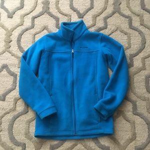 EUC Columbia Kid's Jacket Fleece In  Teal Size L